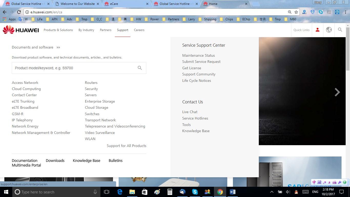 Huawei Enterprise Service Portal | ActForNet